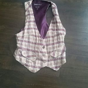 Derek Heart Plaid Vest